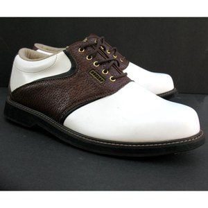 Dunlop Classic Saddle Golf Shoes Spikeless Sz 10.5